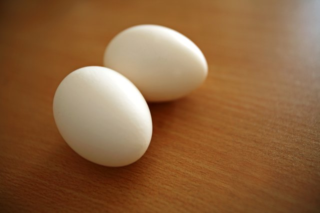 Hard boiled eggs.