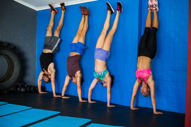 Handstand push-ups definitely are not for beginners.