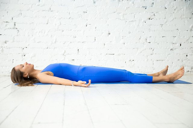 Corpse pose releases and stabilized the pelvic floor muscles.