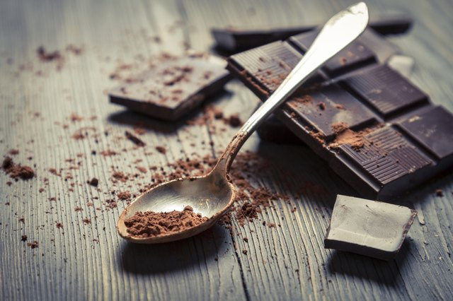 Dark chocolate and a spoonful of cacao