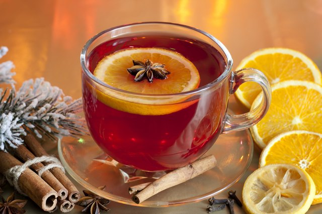 cup of orange lemon fruit tea