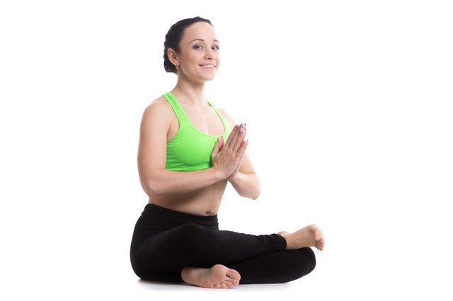 Square pose activates meridians in your hips.