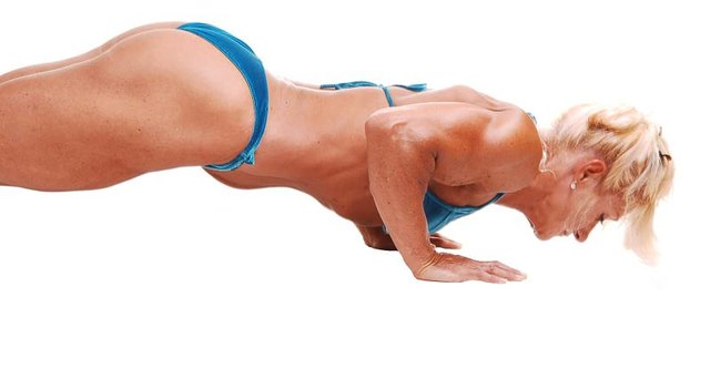 Contrary to popular belief, the military push-up says nothing about tucking your elbows.