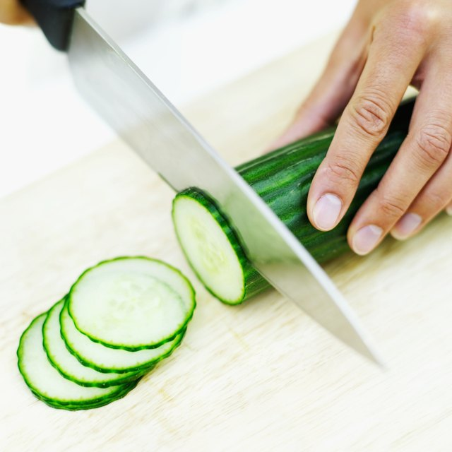 Use cucumber slices.