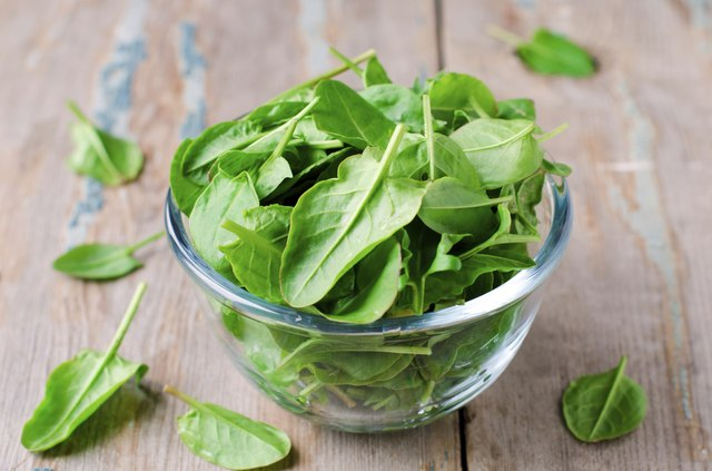Spinach is high in fiber.
