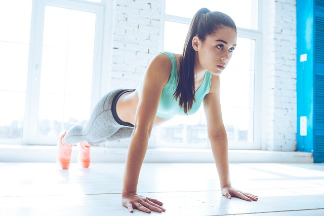 Planks are a great way to activate the abdominal muscles.