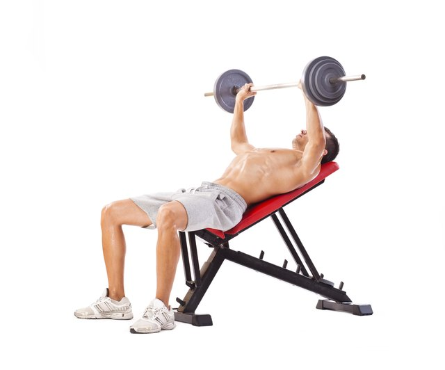 Adding an incline to the weight bench can strengthen the upper portion of your pectoralis major.