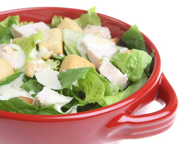 Salmonella can be a risk with Caesar salads.