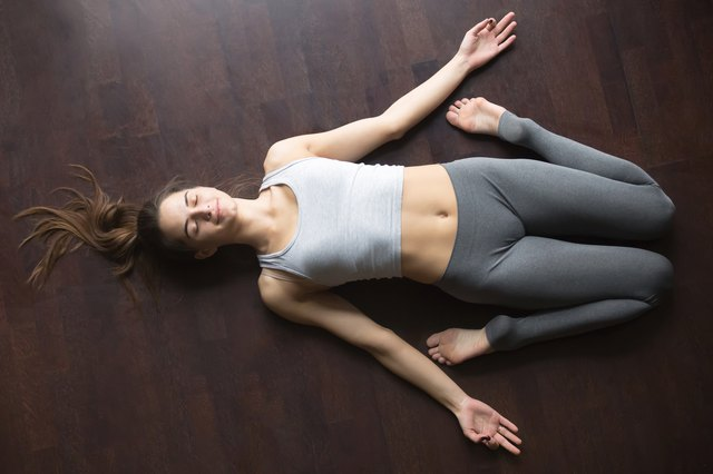 Reclining Hero pose takes weight off your stomach to relieve nausea.