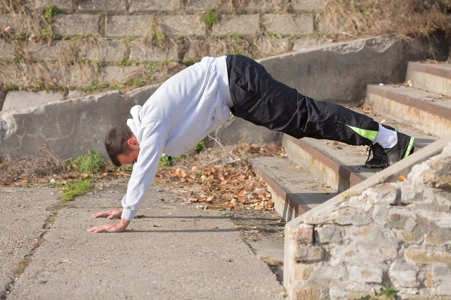 Do a variation of pike push-ups outside.