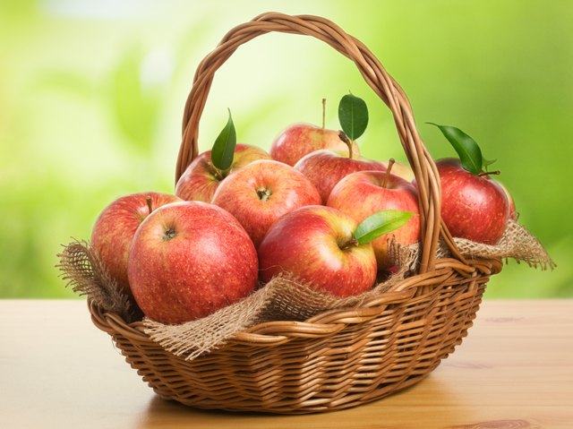 Basket of fresh apples