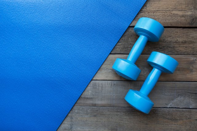 Use water bottles in place of dumbbells if needed.