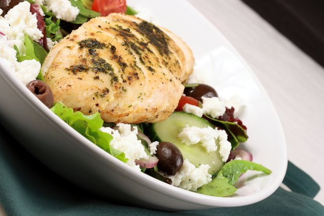 Reduce your caloric intake with lean protein, low-fat dairy, and lots of vegetables.
