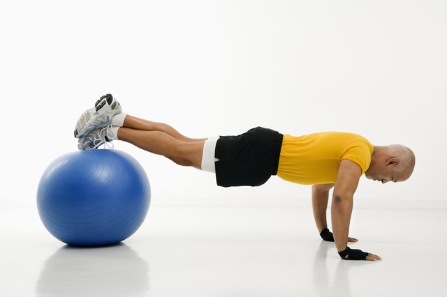 Push-ups off of a stability ball are a type of decline push-up.