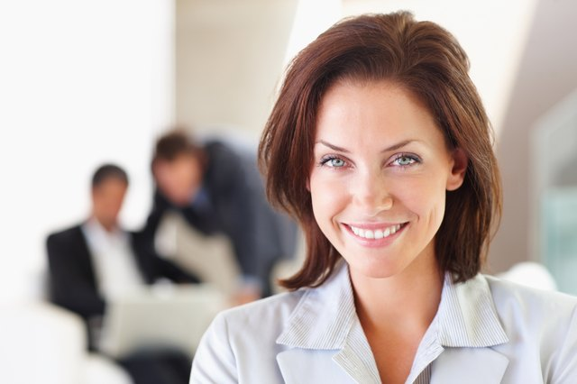 assertive woman in business environment
