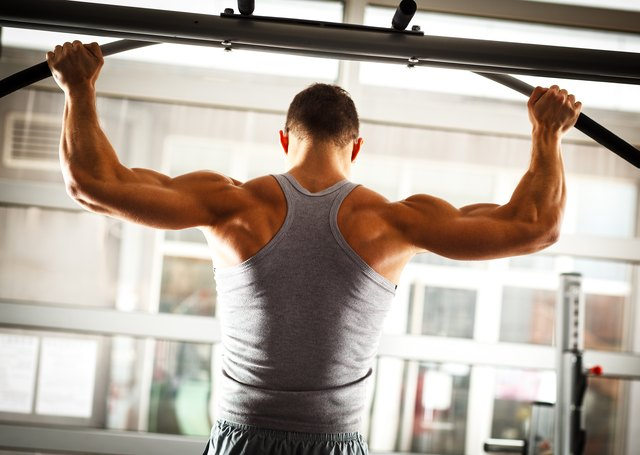 A wide grip changes the target of the pull-up.