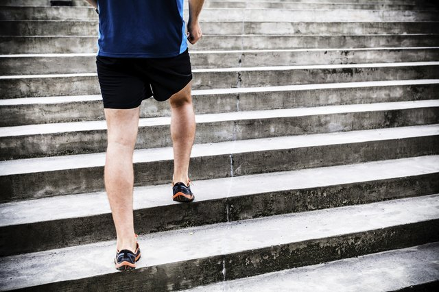 Step-ups can be done on the stairs.
