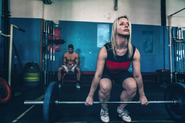 In a powerlifting meet, you compete against other people and yourself.