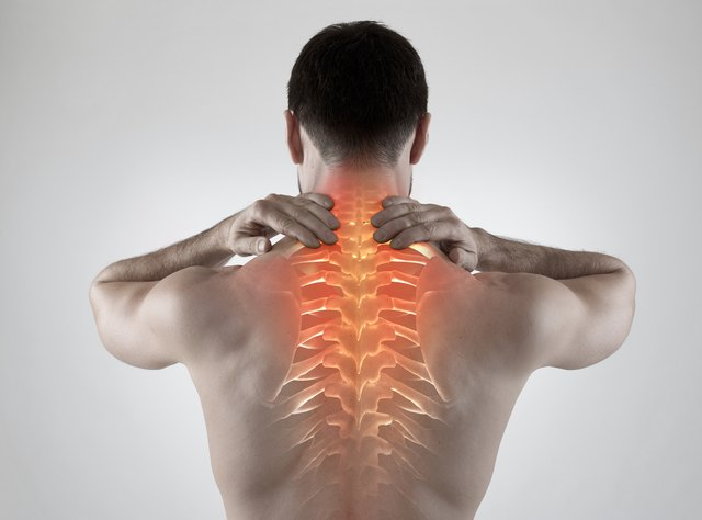 A rounded posture can cause back pain.