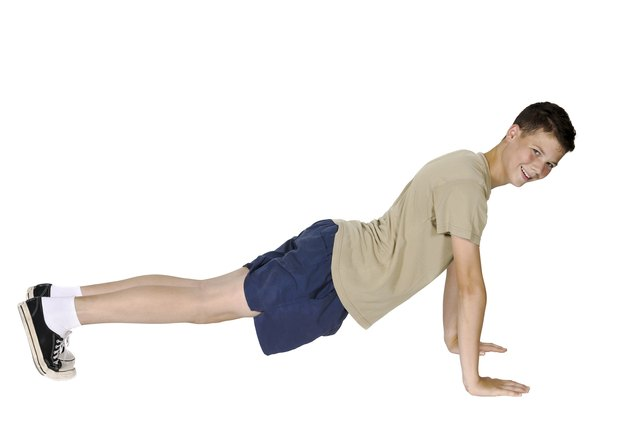 Sagging hips will disqualify your push-ups.