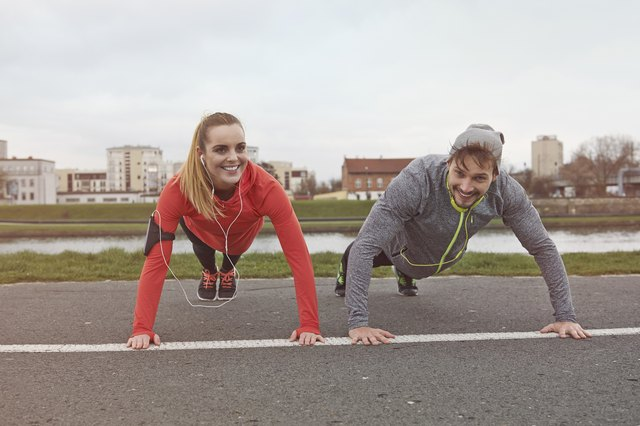 If you're a newbie, you can expect to feel at least a little sore after a push-up workout.