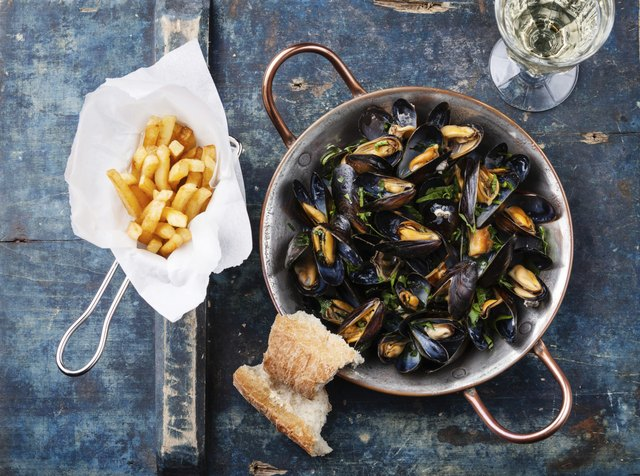 Pescatarians can eat mollusks like mussels.