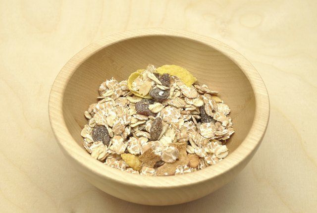 Oats with raisins.