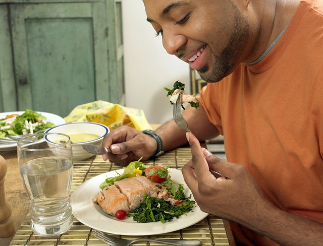 Try to eat smaller meals spread throughout the day.