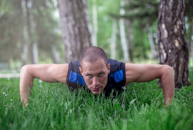 Don't risk an overuse injury by doing too many push-ups.