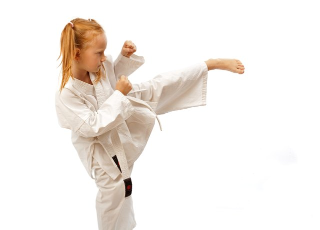 Punching and kicking drills require focus.