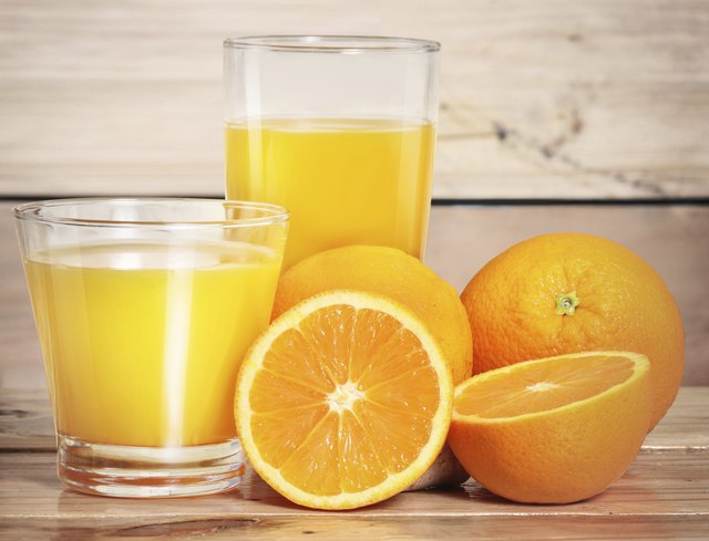 A large glass of orange juice can contain more than 50 grams of carbs.