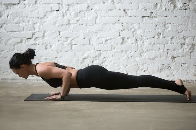 For Pilates push-ups, keep your elbows close to your ribs.