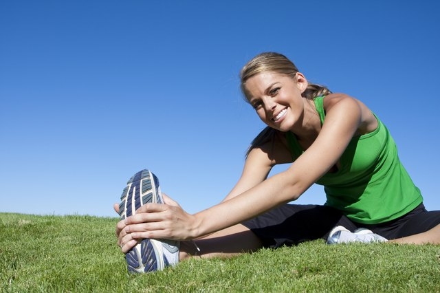 Stretching is a good way to improve flexibility.