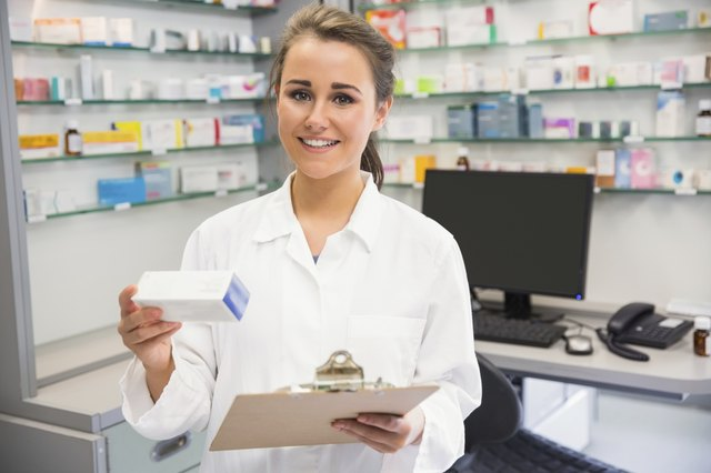 Pharmacist with perscription