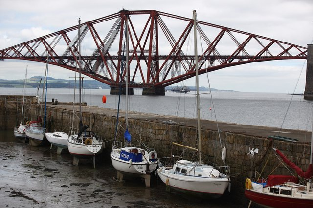 A historic bridge in Scotland, employing granite piers to support its cantilevers.