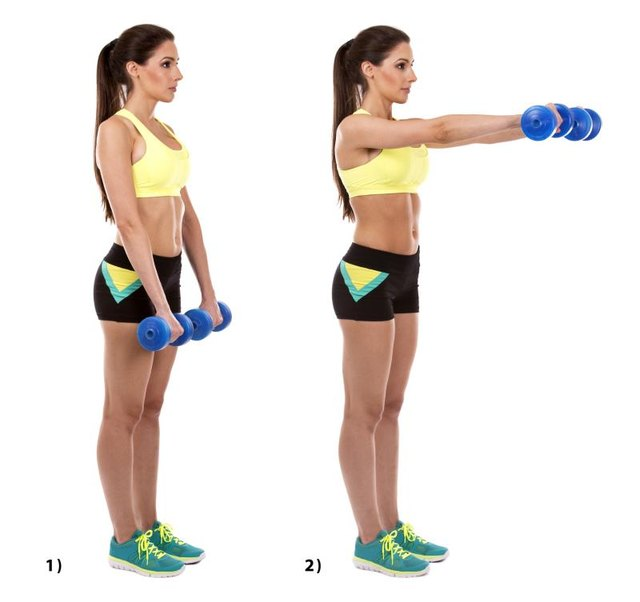 Increase your dumbbell weight as you get stronger.