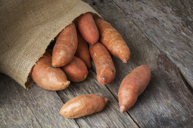 Sweet potatoes are high in potassium.