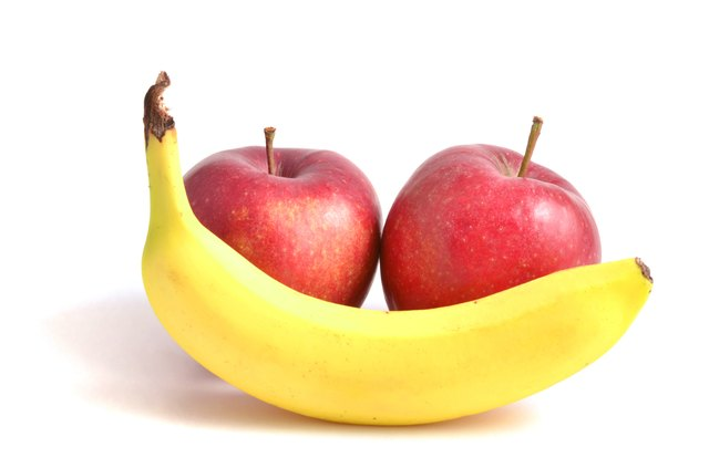 Fruit such as apples and bananas are a good fiber choice.