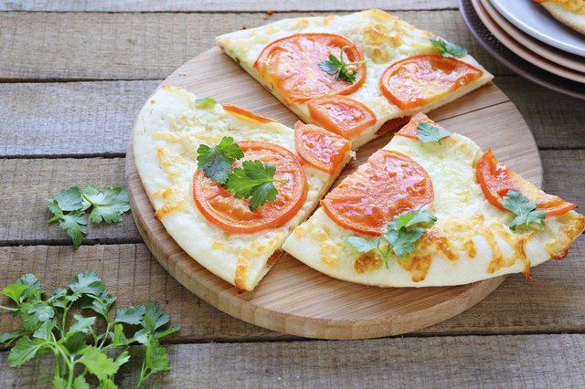 Pita bread pizza.