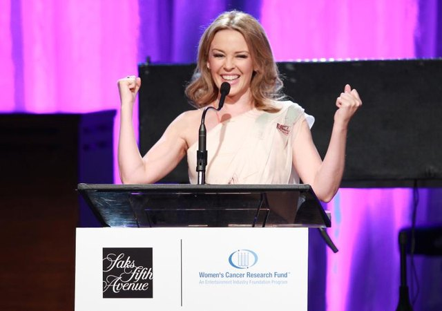 Australian actress and singer Kylie Minogue was diagnosed with breast cancer in 2005.