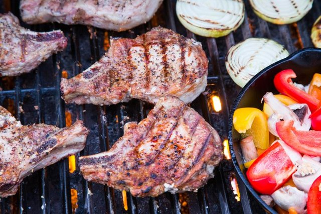 Grilling a Two-Inch Pork Chop