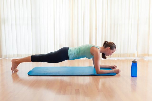 Don't forget to breathe when holding the front plank.