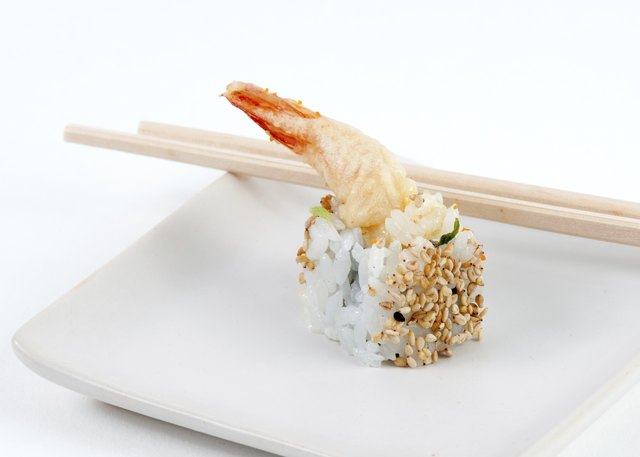 Shrimp tempura roll.
