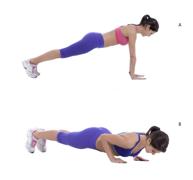 Push-ups are an easy and challenging way to strengthen your chest muscles.