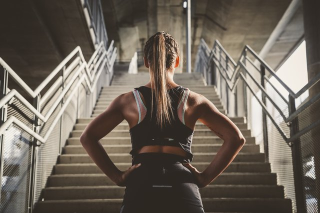 Stairs are an option for interval workouts.