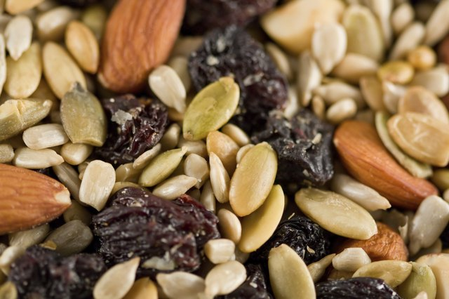 close up of healthy trail mix
