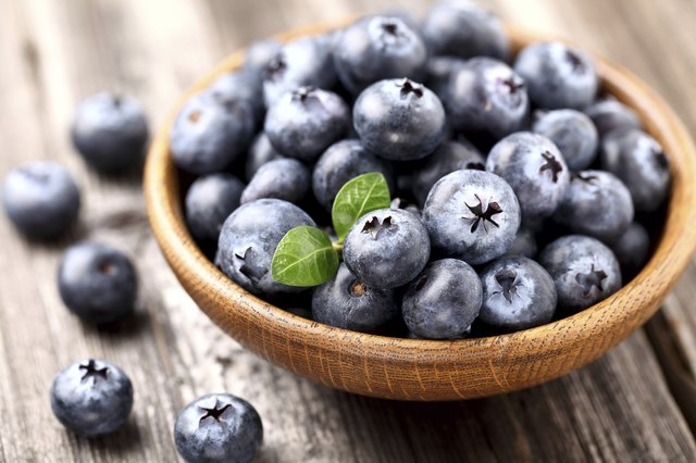 A bowl of ripe blueberries