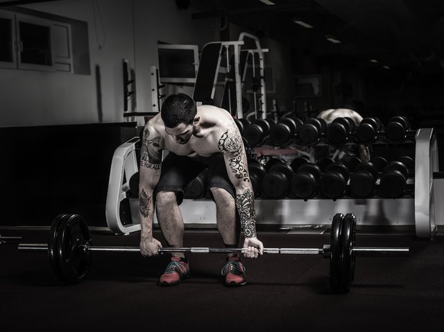 Try to keep your spine flat throughout the deadlift.