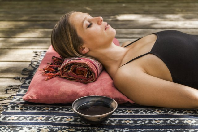 Place a blanket under your head and neck for more support during Savasana.