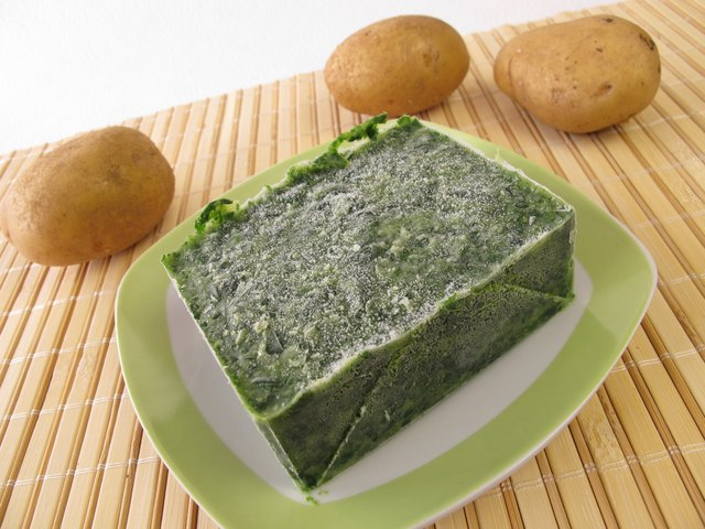 Frozen spinach will keep much longer than fresh spinach.